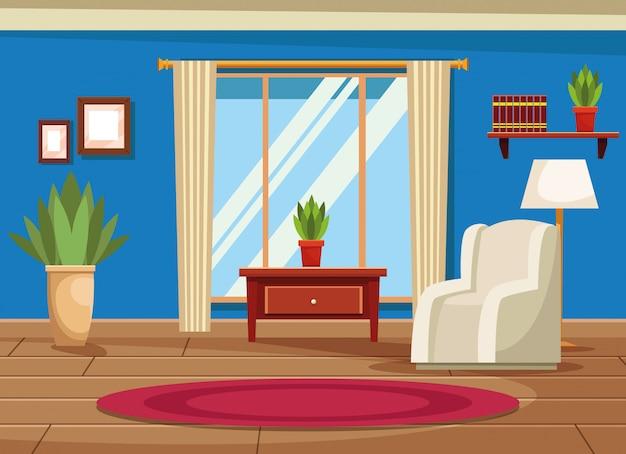 Intérieur de maison avec décor de meubles