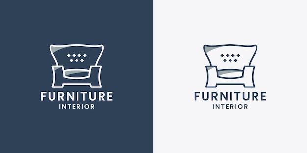 Intérieur de maison de propriété de conception de logo de meubles de sofa