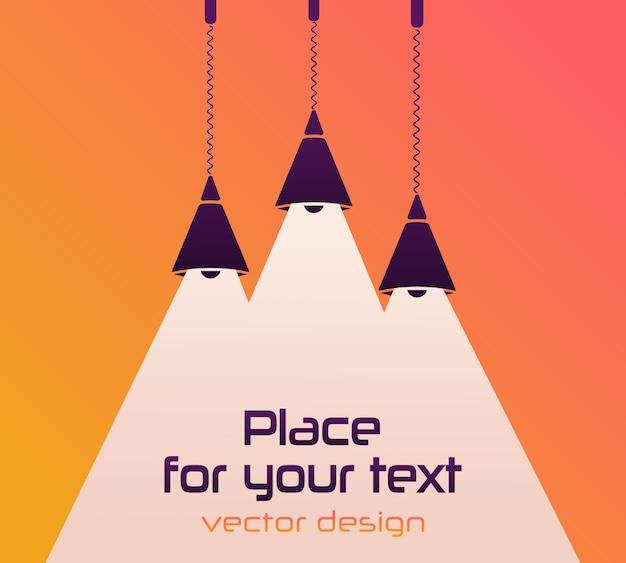 Intérieur moderne. ampoule. place pour votre texte