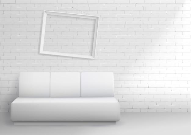 Intérieur moderne avec canapé