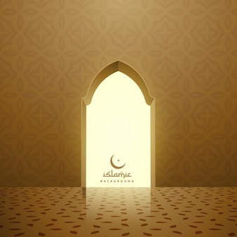 Intérieur de la mosquée dorée avec porte