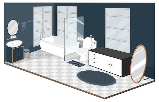 Intérieur de la salle de bain avec des meubles de style moderne