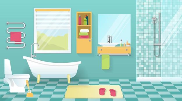 Intérieur de salle de bain moderne