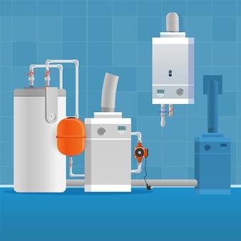 Intérieur de salle de bain vector illustration concept.
