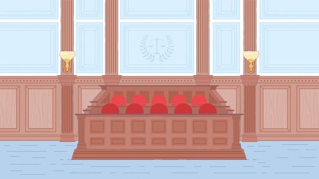 Intérieur de la salle du procès.