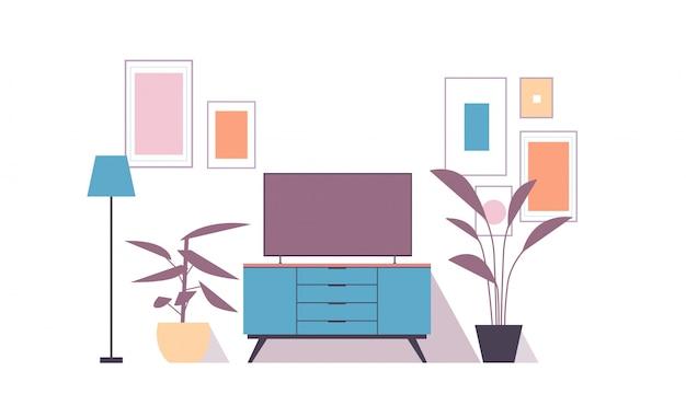 Intérieur de salon moderne isolé sur mur blanc, vide aucun peuple, appartement avec mobilier