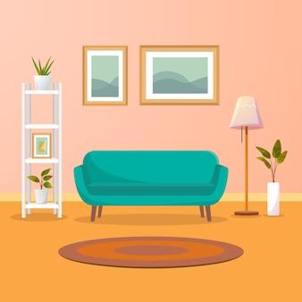 Intérieur de salon moderne.