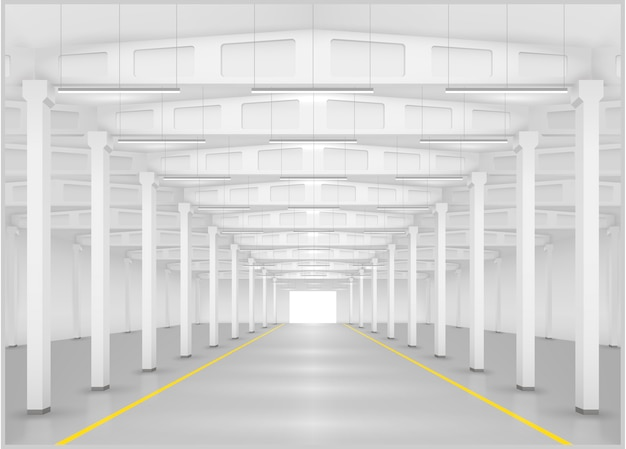 Intérieur d'une usine ou d'un entrepôt