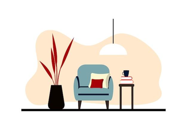 Intérieurs d'appartements élégants de style scandinave avec une décoration moderne. salon meublé confortable. illustration vectorielle plane de dessin animé. mobilier lumineux, élégant et confortable avec des plantes d'intérieur.