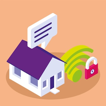Internet Domestique Intelligent Vecteur Premium