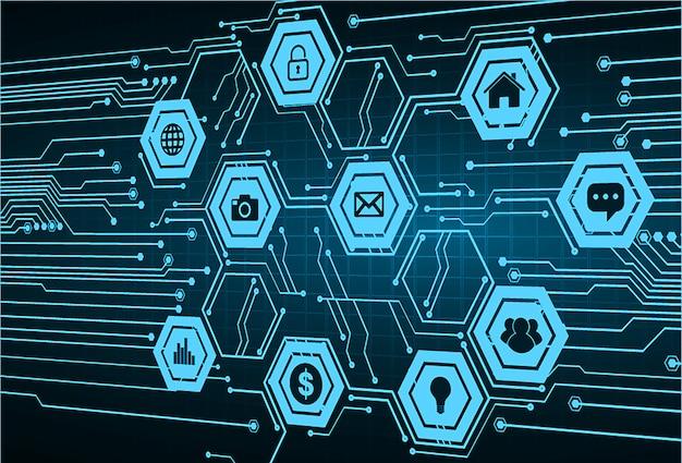 Internet des objets circuit cyber technologie