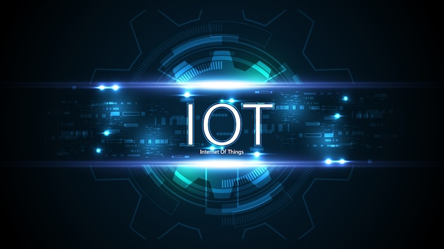 Internet des objets. concept de connectivité iot. fond de technologie de connexion mondiale de réseau