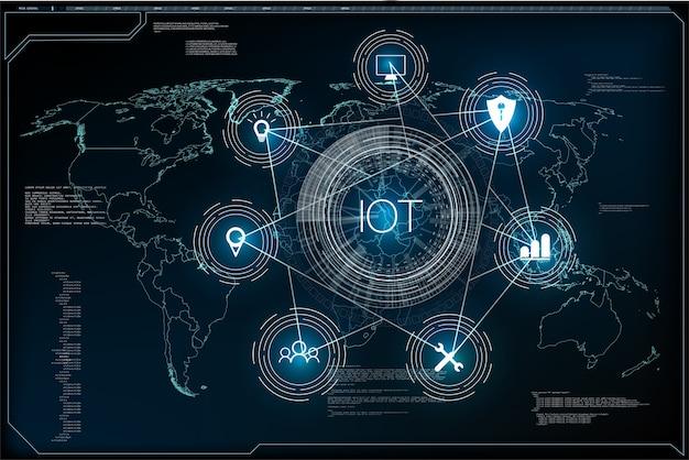 Internet des objets et concept de réseau pour les appareils connectés