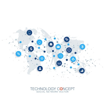 Internet des objets iot et concept de connexion réseau