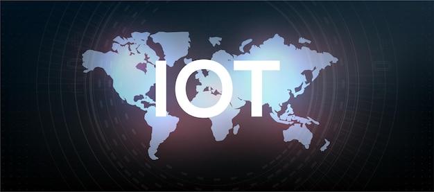 Internet des objets (iot) et concept de mise en réseau pour les appareils connectés. connexions réseau numérique, le concept de connexion d'appareils utilisant la technologie iot. tic (technologies de l'information et de la communication)