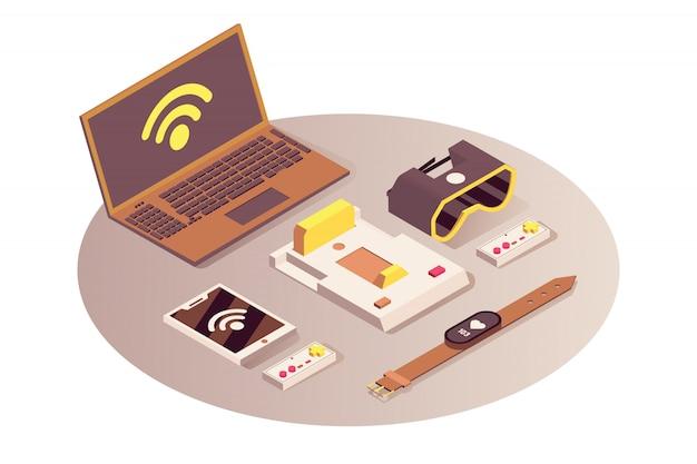 Internet des objets isométrique