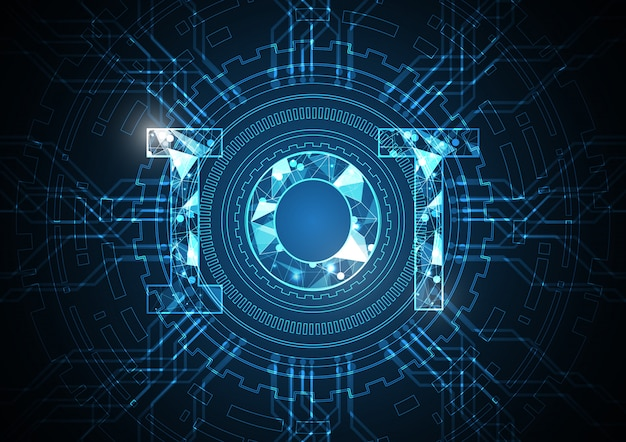 Internet des objets technologie abstrait cercle circuit fond