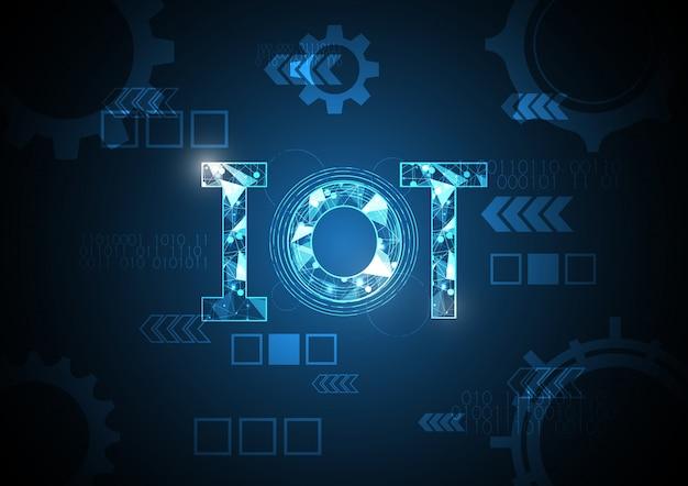 Internet des objets technologie abstrait cercle flèche engrenage fond