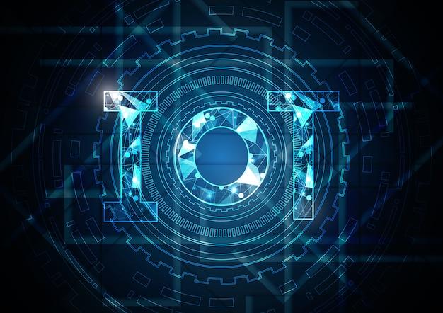 Internet des objets technologie abstrait cercle rectangle fond