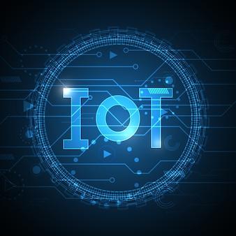 Internet des objets technologie abstrait circuit cercle fond