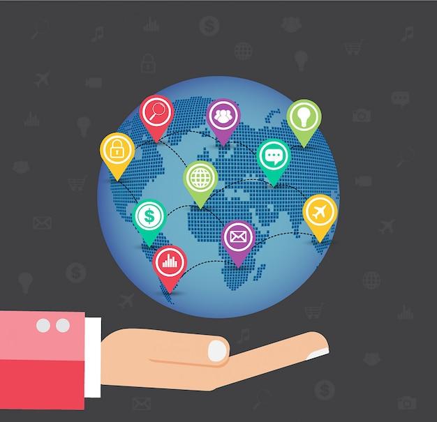 Internet des objets technologie du cyber monde