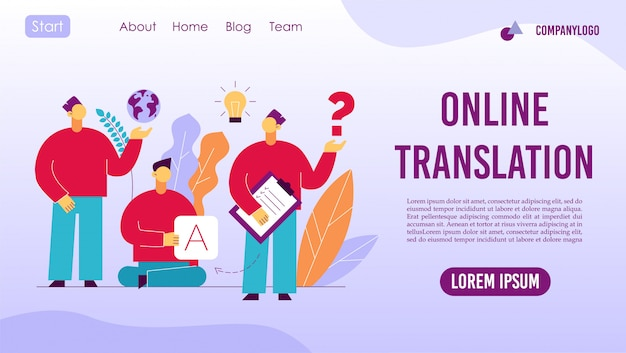Interprète de langues étrangères de traduction en ligne