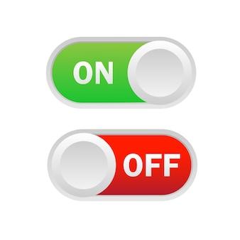 Interrupteur à bascule. allumé et éteint.