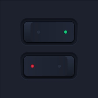 Interrupteur à bascule noir réaliste