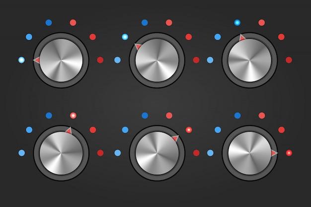 Interrupteur à bouton de bouton de température réaliste.