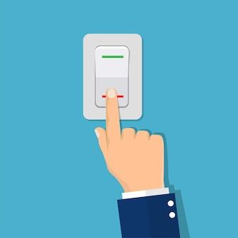 Interrupteur à bouton-poussoir main homme