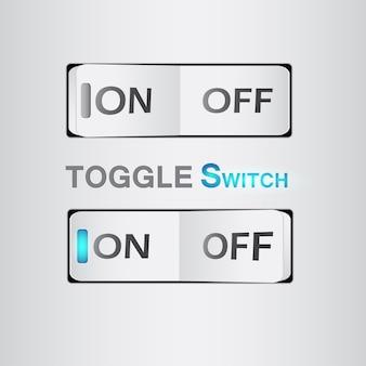 Interrupteur réaliste, bouton marche / arrêt