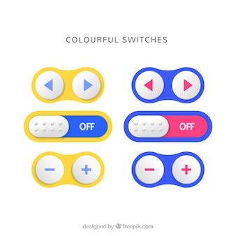 Interrupteurs colorés