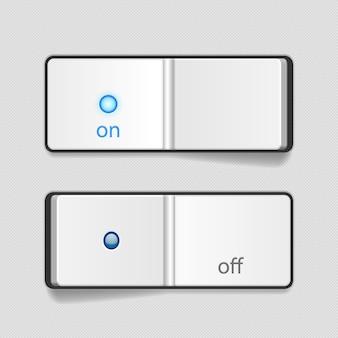 Interrupteurs marche / arrêt réalistes