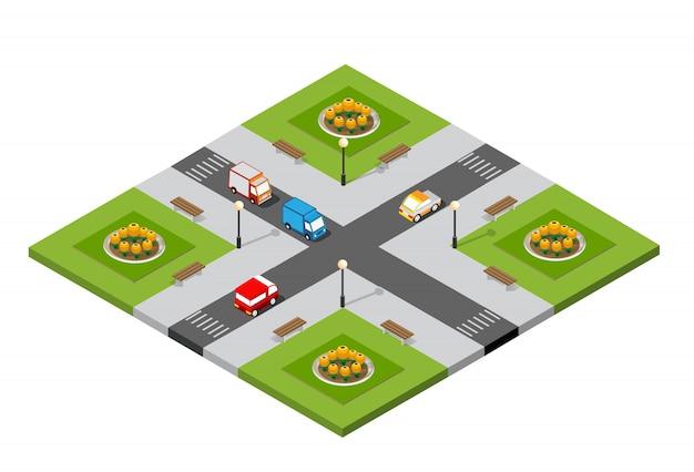 Intersection 3d de la ville