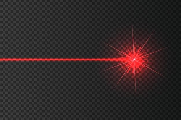 L'intersection des faisceaux de sécurité laser rougeoyants sur un fond sombrela conception de l'art brille un rayon lumineux