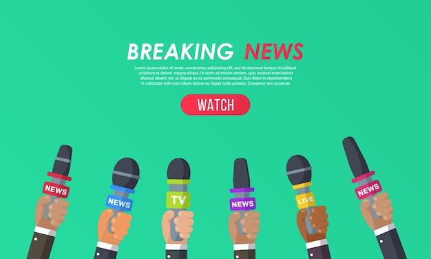 Les interviews sont des journalistes de chaînes d'information et de radio