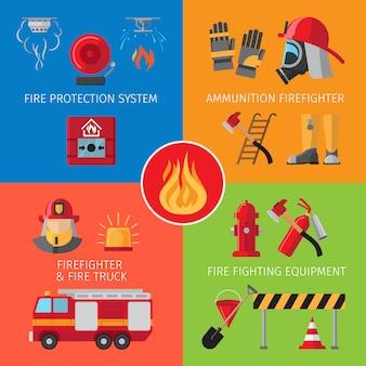 Inventaire de lutte contre l'incendie et concepts de sauvetage en cas d'incendie