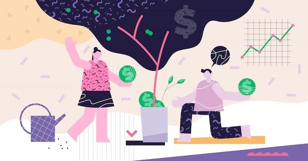 Investir un concept abstrait moderne