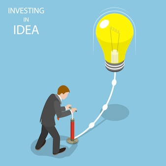 Investir dans l'illustration isométrique plate idée.