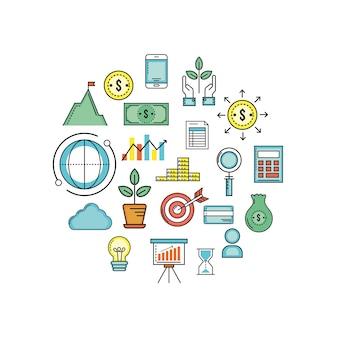 Investissement et analyse dans la stratégie d'entreprise de busines