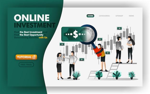 Investissement et banque en ligne