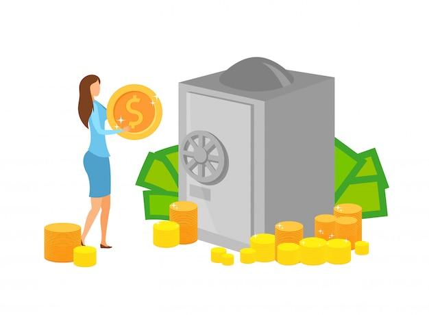 Investissement en capital, illustration vectorielle épargne