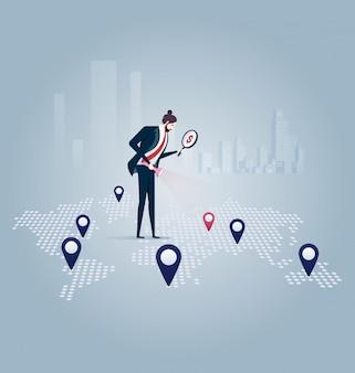 Investisseur. homme d'affaires à la recherche d'une opportunité d'investissement