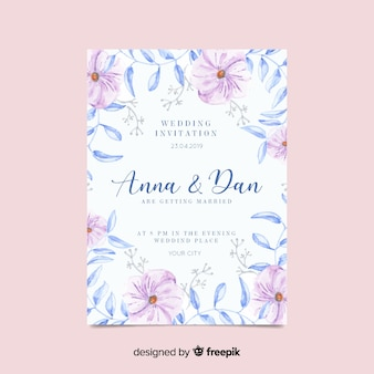 Invitatio de mariage floral