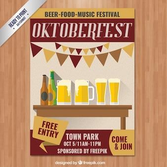 Invitation d'affiche oktoberfest