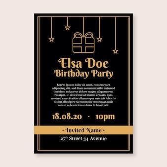 Invitation d'anniversaire élégante