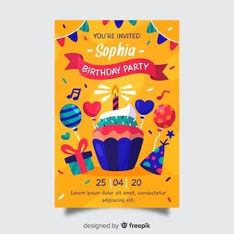 Invitation anniversaire modèle enfants