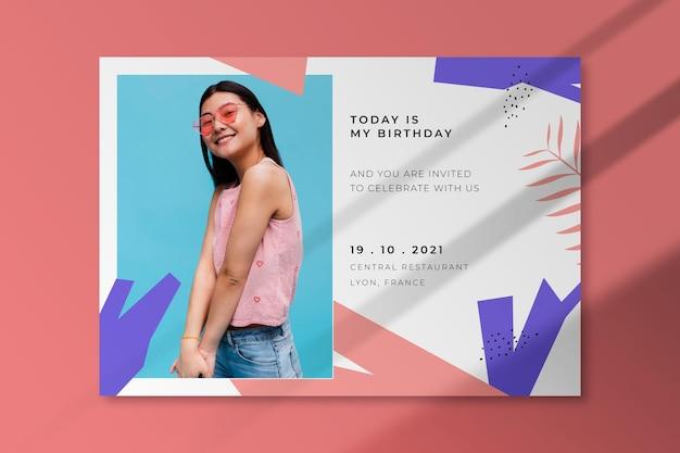 Invitation d'anniversaire avec photo