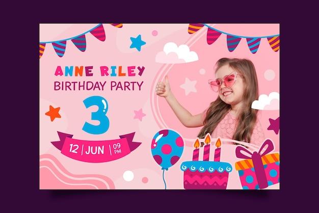 Invitation d'anniversaire pour enfants