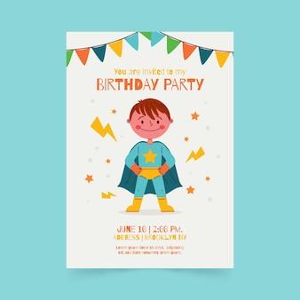 Invitation d'anniversaire de super-héros